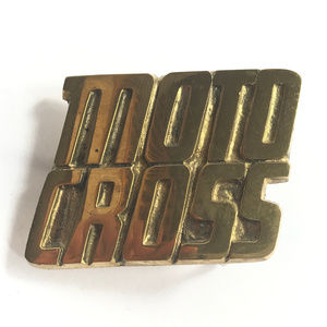 Other - Vintage Original Brass Motor Cross Belt Buckle